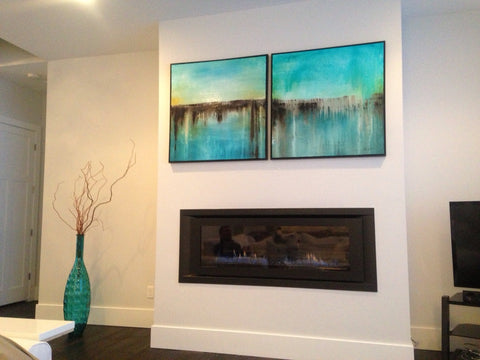 Sky Whitman Paintings In Client Home
