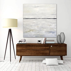 Indecision original minimalist painting by sky whitman abstract contemporary white and black painting