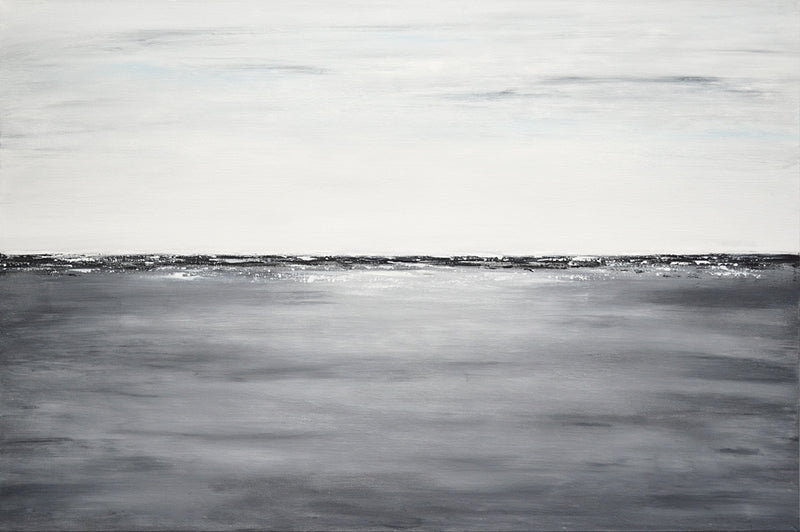 """51 Shades of Gray"" Landscape Painting Gray Abstract"