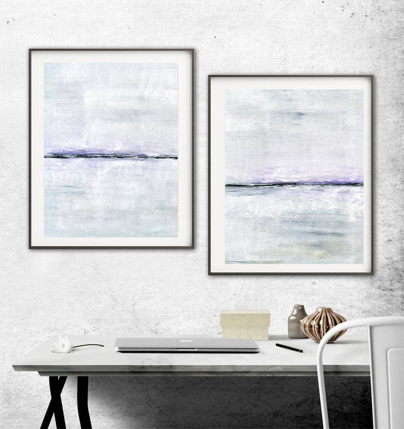 Instant download art diptych prints digital download modern art prints set of 2 wall art home decor Sky Whitman