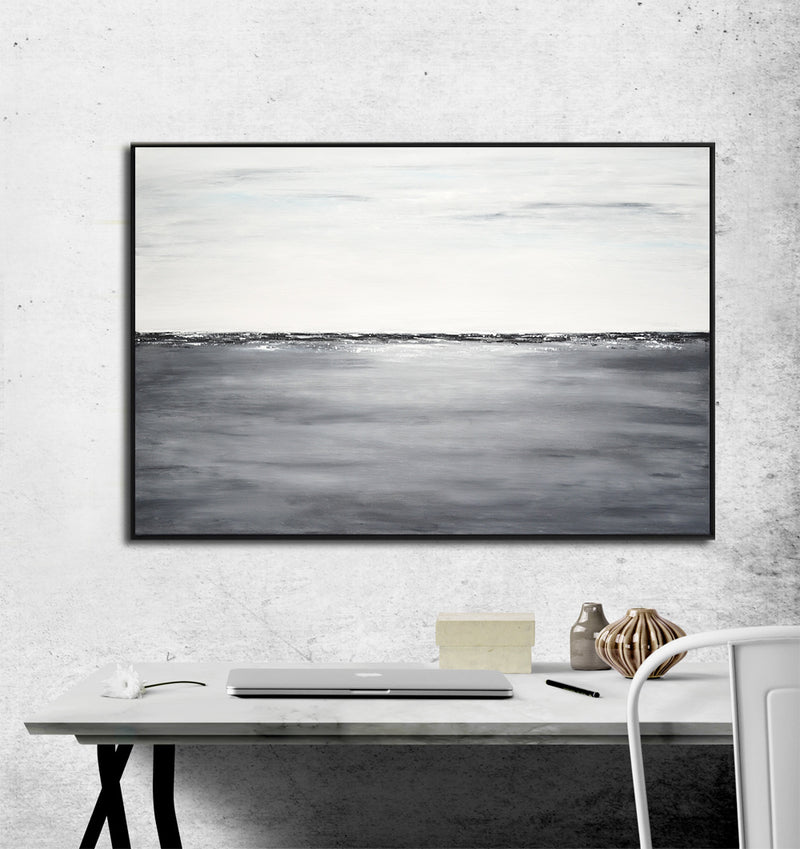 gray landscape painting