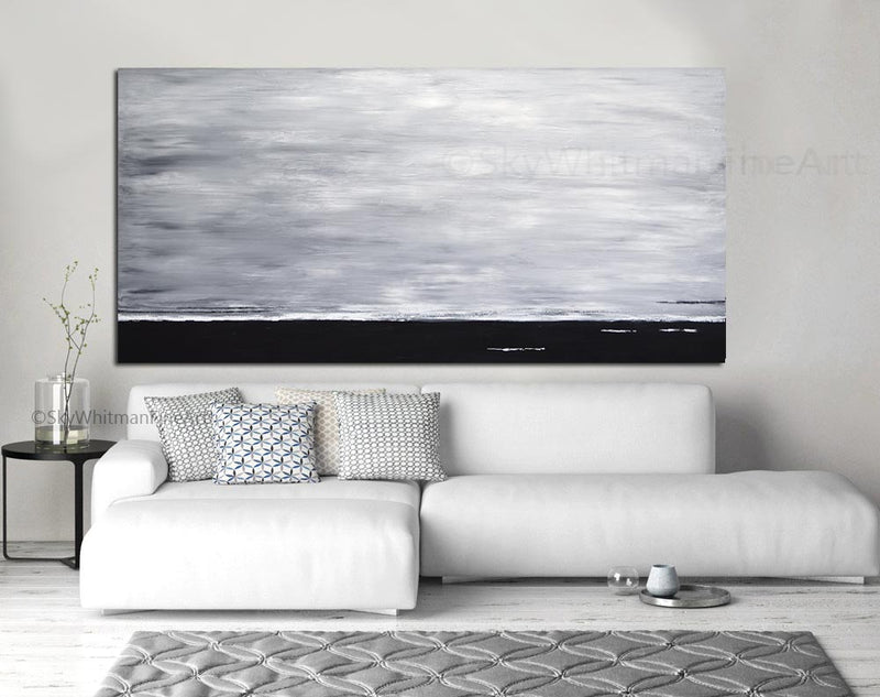 minimalist black and white painting whitman