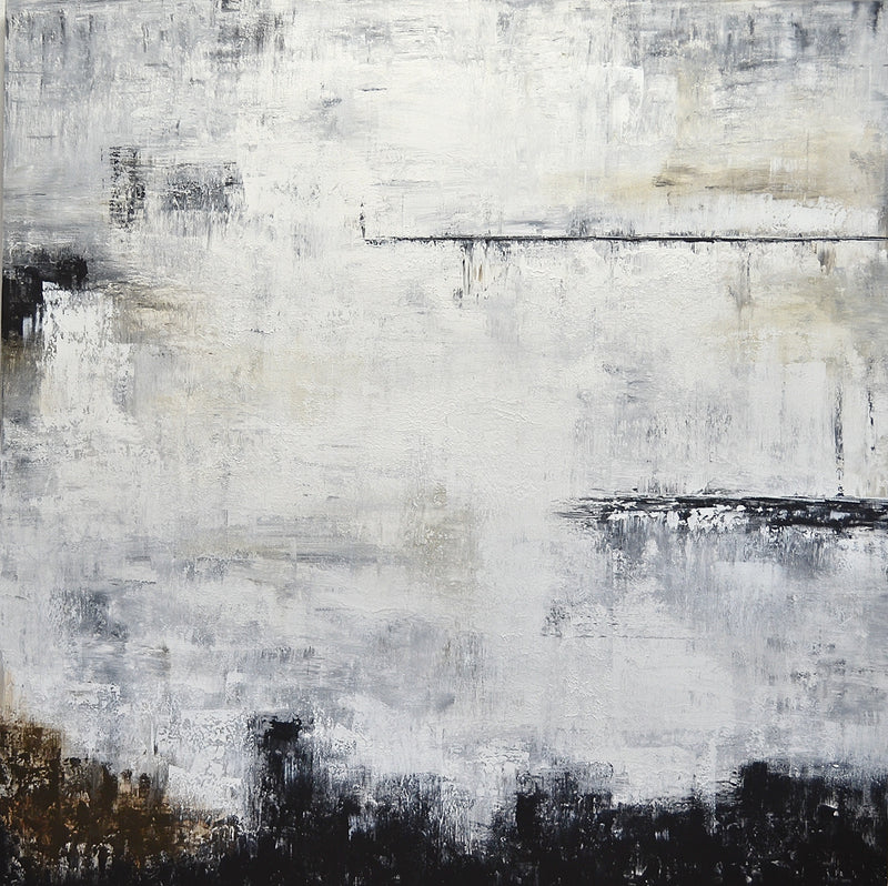 """Chances"" 48x48 Large Abstract Painting Modern Design"