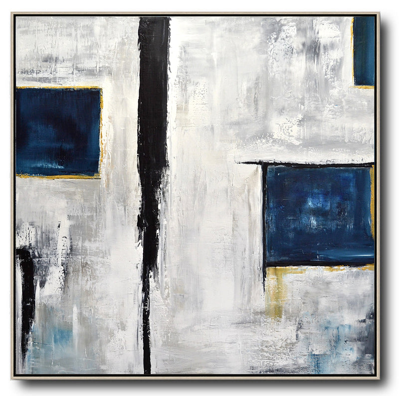white blue abstract artwork