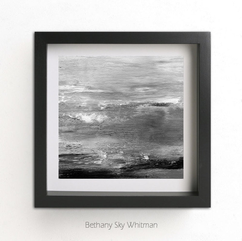 square print black and white gray art wall art artwork poster art Sky Whitman