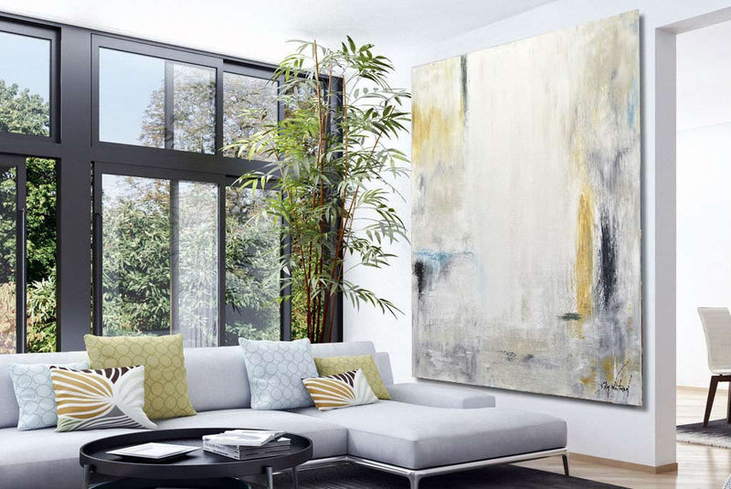 large contemporary abstract art wall design