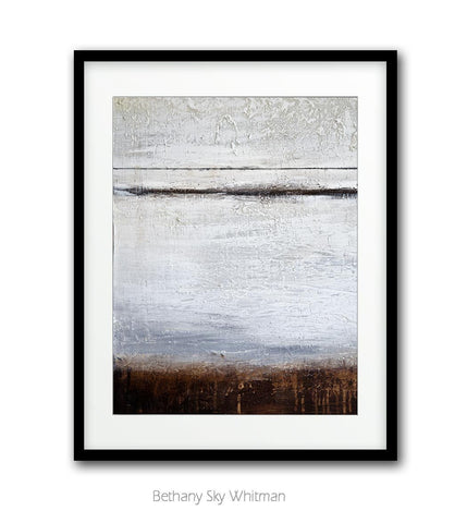 """Urban Center"" Digital Art Print Mixed Media Minimalist Abstract Art Print Digital Download Large Print Modern Art Textured Painting Brown White"