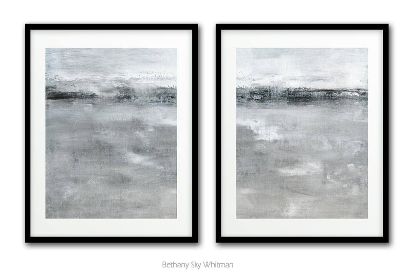 Set of 2 landscape art decor wall art download printable art abstract Sky Whitman