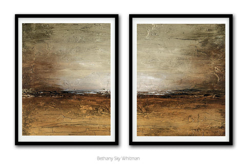 """Rustic Path"" Digital Download Set Of Two 11x14 & 16x20 Taupe Sienna Abstract Prints"
