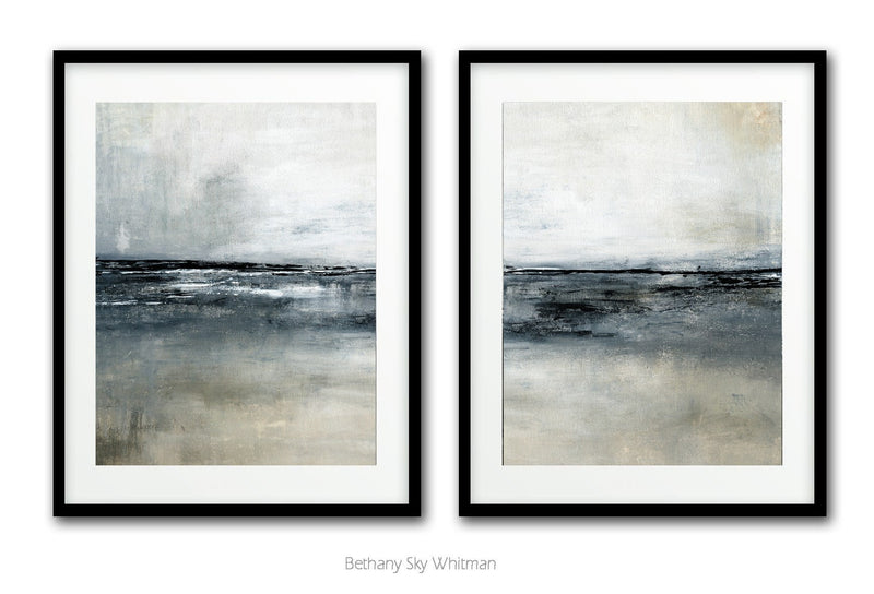 Diptych set of 2 digital download prints landscape horizon art