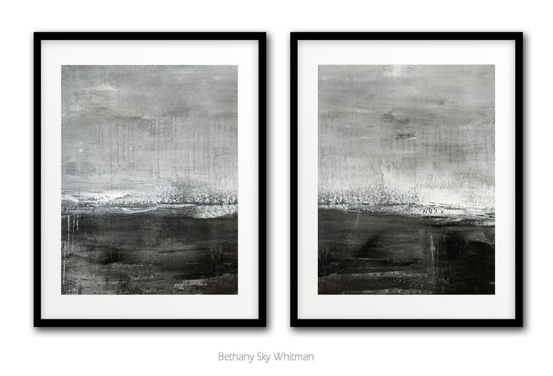 Diptych wall art artwork downloadable prints set of two landscape modern contemporary design Sky Whitman