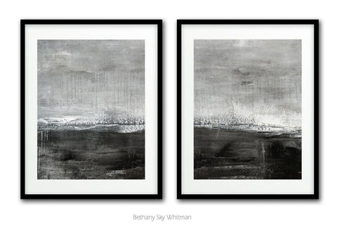 """Crave"" Digital Download Set Of Two 11x14 & 16x20 Gray Black White Abstract Prints"