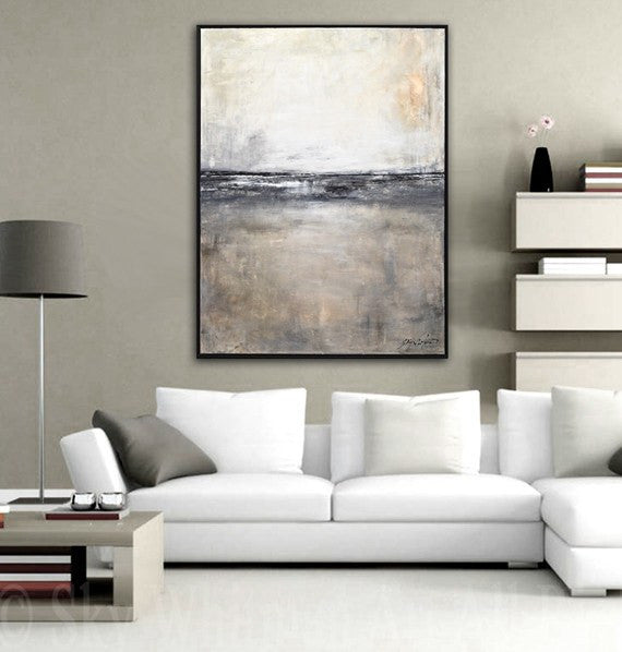 large framed landscape painting www.skywhitmanfineart.com