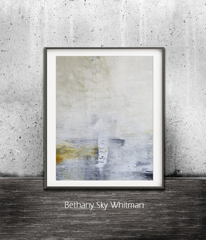 """Forget Me"" Large Digital Art Print Abstract Art Taupe Gray Amber Painting Digital Download Modern Art Contemporary Wall Decor Sky Whitman"