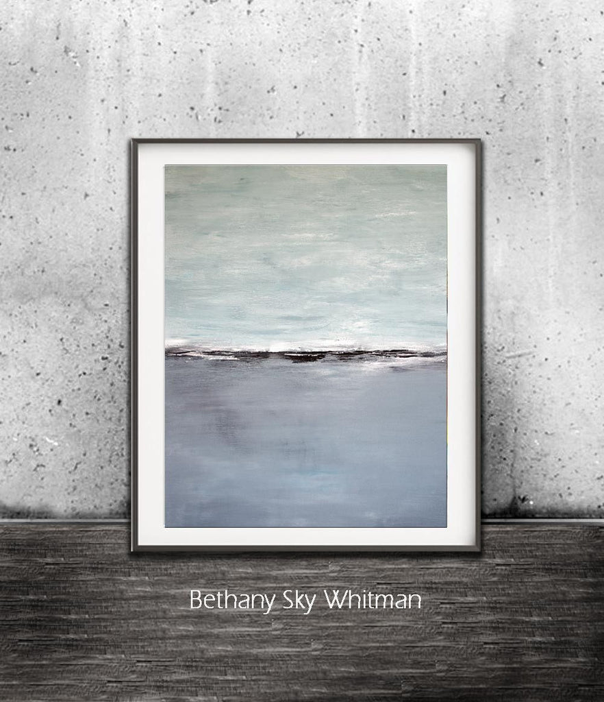printable download abstract print modern art accent piece landscape light print Sky Whitman