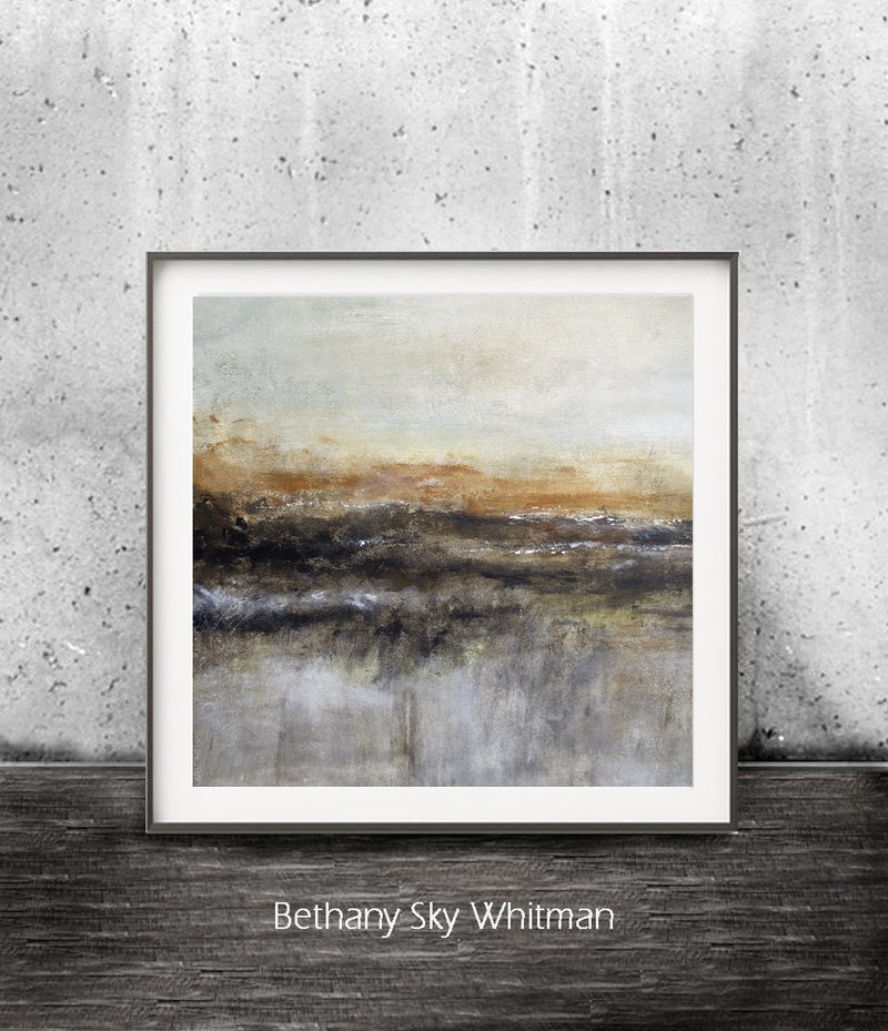 abstract print zen art relaxing print landscape printable art brown Sky Whitman fine art