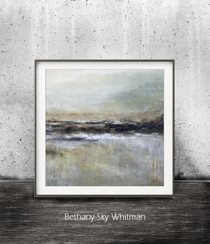 zen art wall art digital print abstract art landscape square calming landscape Sky Whitman
