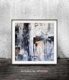 Square abstract grunge print NYC loft style art digital download printable art Sky Whitman
