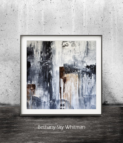 """Urban Style SQ"" Abstract Digital Print Digital Download Art Urban Black and White Print Modern Art Urban Grunge Contemporary Wall Decor"