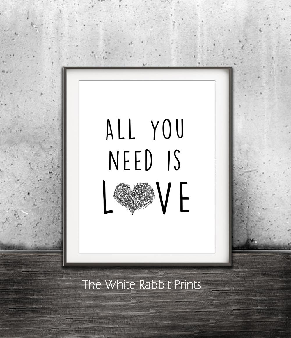 All You Need Is Love Beatles Song Quote Digital Download