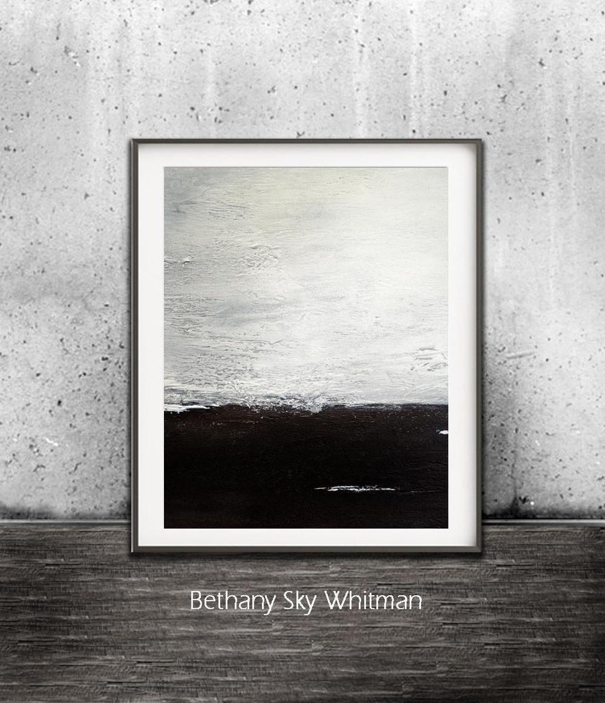 black and white print digital download art abstract landscape minimalistic minimalism accent piece Sky Whitman fine art
