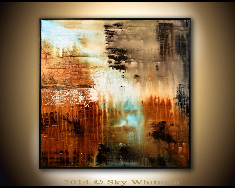 original large painting for sale abstract art framed painting textured gloss painting Bethany Sky Whitman