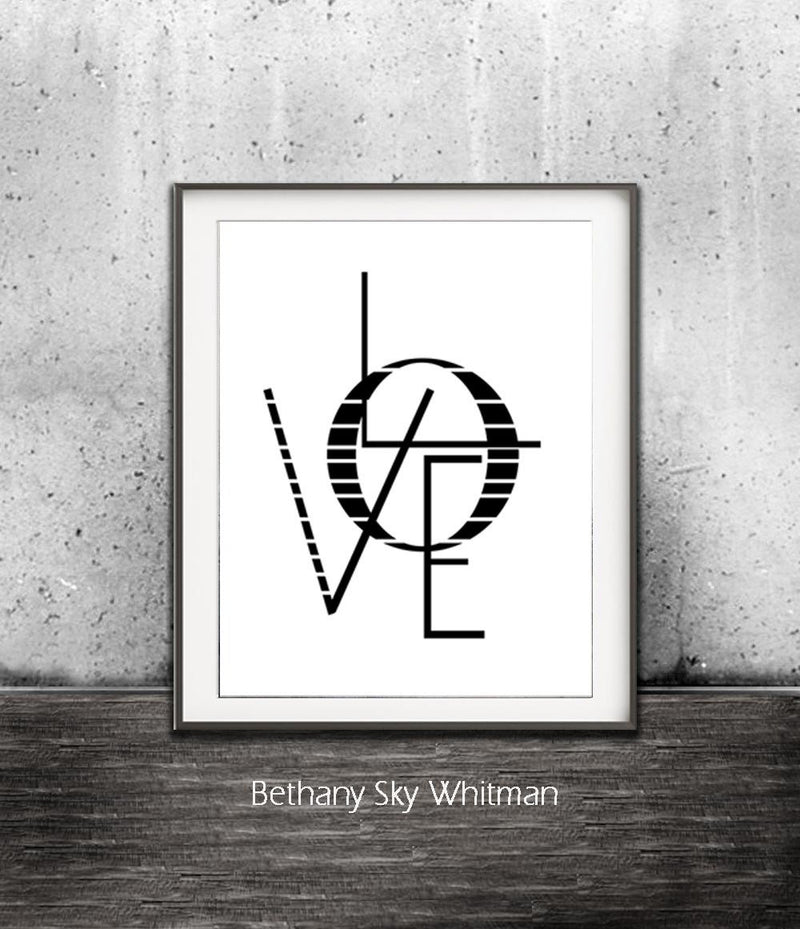 Love print digital art romance sayings quote print circle 3d Sky Whitman