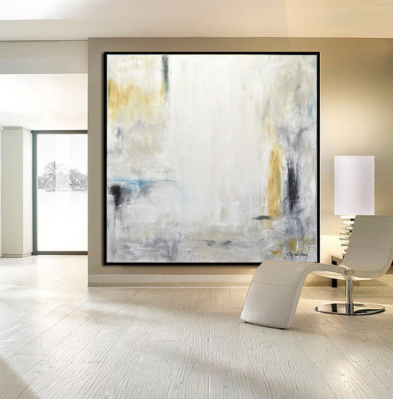 Huge XXL abstract art painting modern design square Sky Whitman