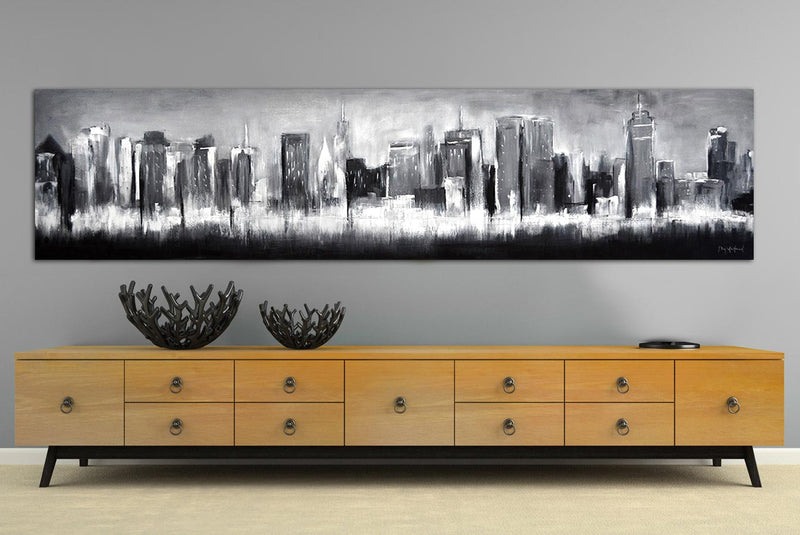 New York skyline artwork panoramic
