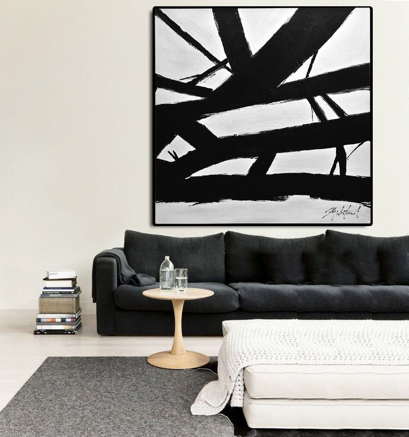 textured wall art black and white striped abstract art