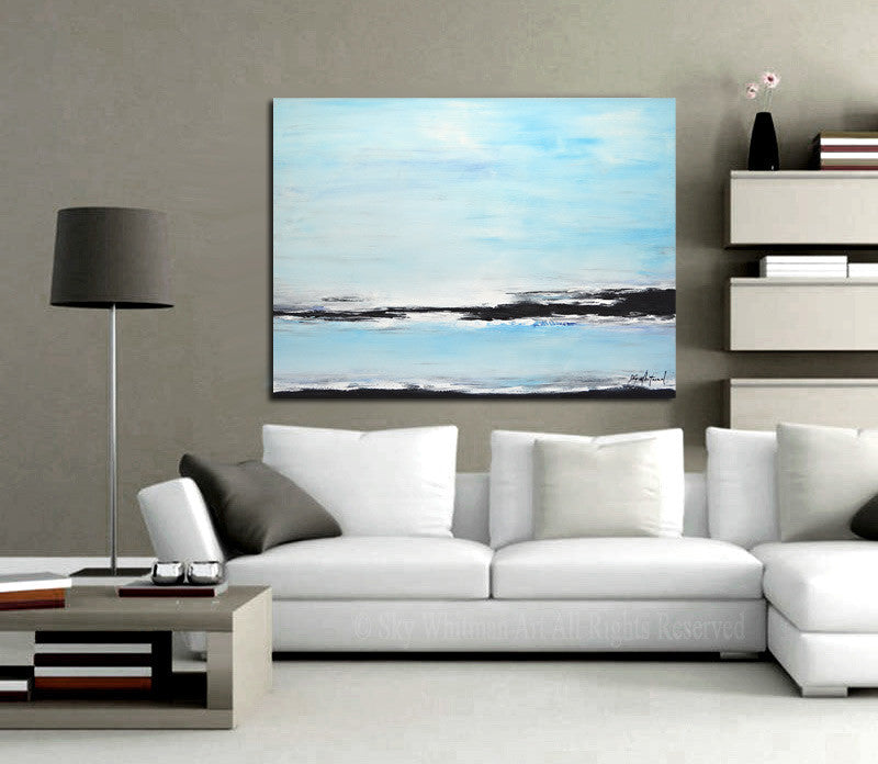 large original seascape abstract painting www.skywhitmanfineart.com
