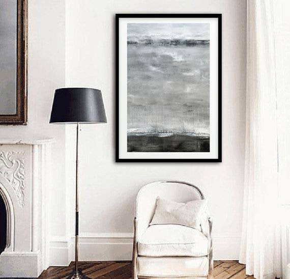 gray print large digital print abstract print gray landscape downloadable Sky Whitman