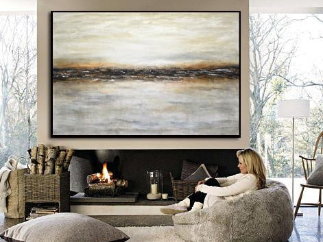 40 x 60 landscape painting abstract original