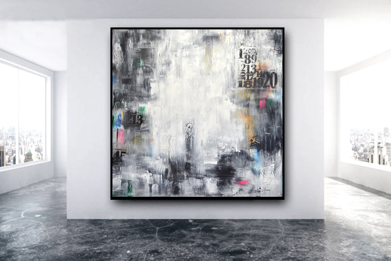 """Out Numbered"" 48 x 48 Original Abstract Painting Wall Art"
