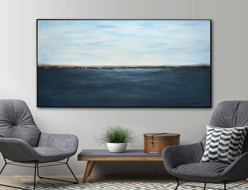 """Inner Horizons"" Abstract Large Landscape Painting"