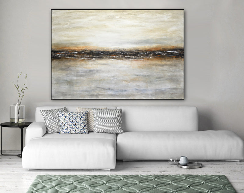 """Dreaming the Journey"" Abstract Landscape Large Painting"
