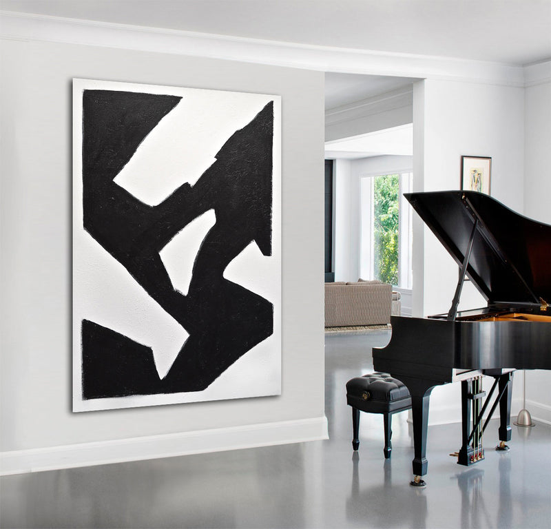 """Elevate"" Original Black and White Abstract Art"