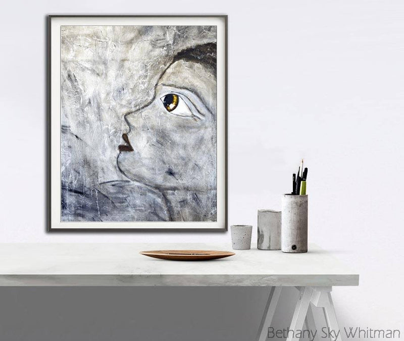 Download print big eye contemporary printable art urban pop art Sky Whitman