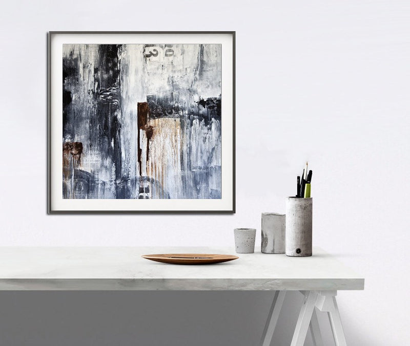 Loft style art digital download indie grunge black and white print urban wall art Sky Whitman