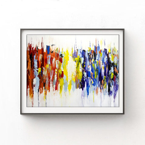"""Urban Playground LS"" Rainbow Print Modern Art Large Digital Print Colorful Abstract Print Modern Digital Download"