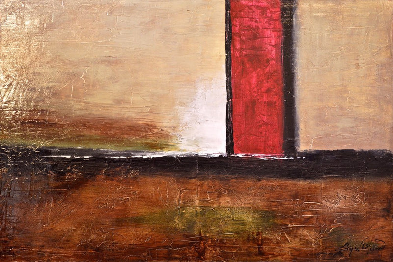 oil painting for sale abstract art textured painting brown painting Bethany Sky Whitman