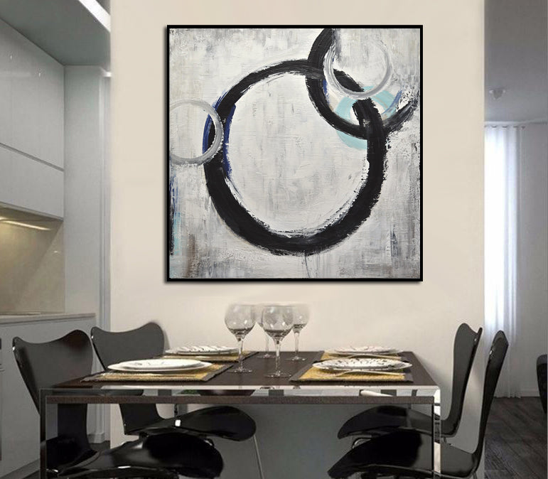 abstract circles painting home decor