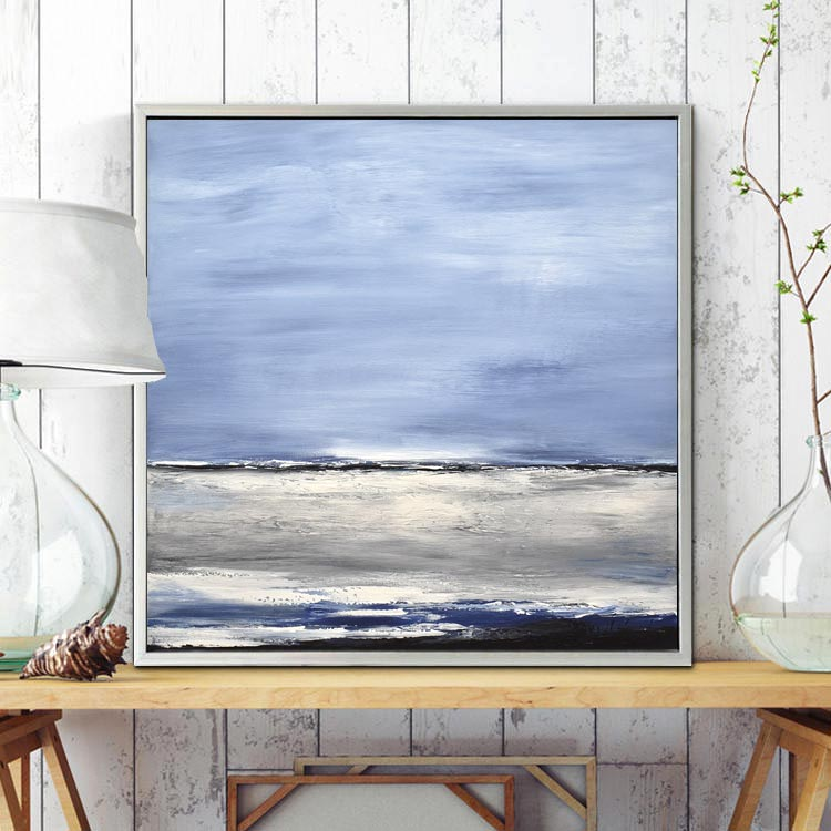 blue painting seascape abstract
