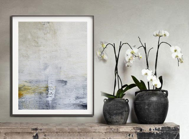 Abstract art print download print large print white taupe minimalist sky whitman fine art