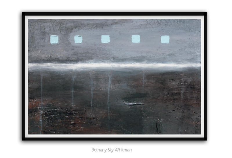 Digital download abstract print download wall art wall decor gray 20 x 30 Sky Whitman Fine Art