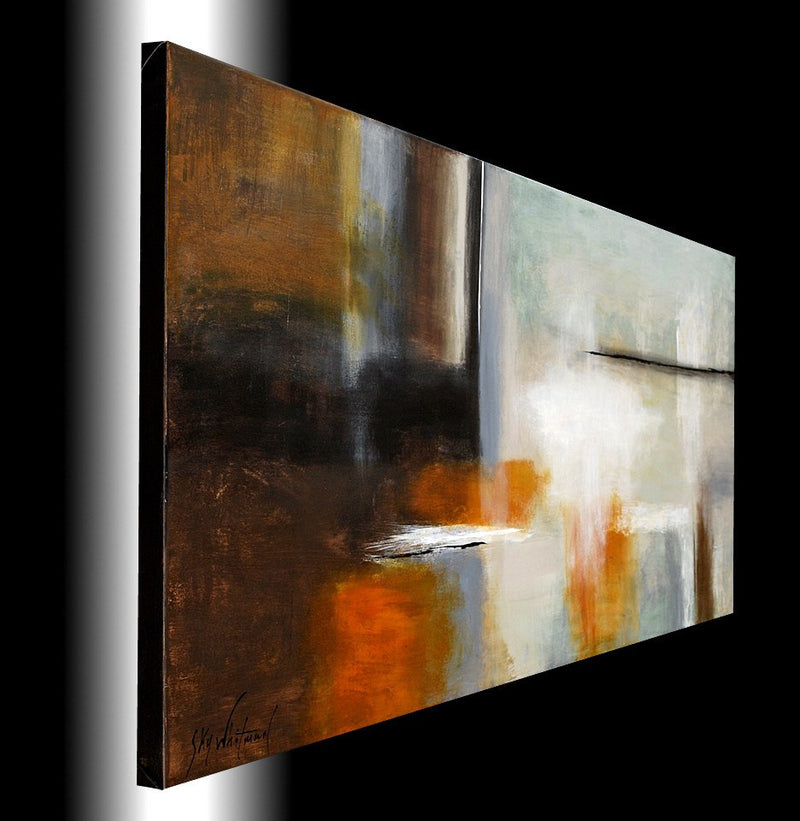 large original modern painting couch size wall art abstract painting Bethany Sky Whitman
