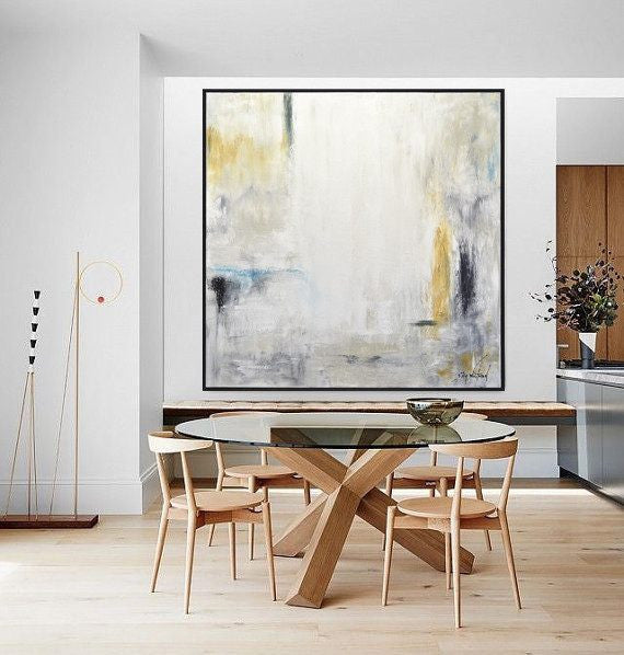 Large modern abstract painting home decor contemporary art Sky Whitman