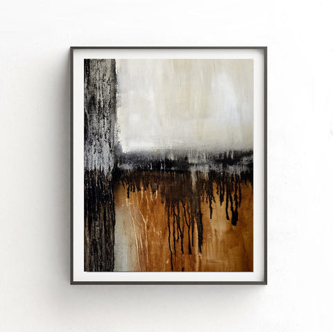 """NYC"" Digital Art Abstract Print Digital Download Taupe Rust Black Modern Wall Decor Instant Download Art by Sky Whitman"