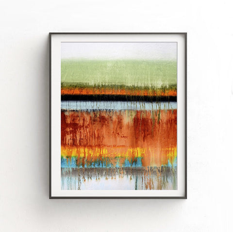 """Many Layers"" Rainbow Print Abstract Art Print Digital Download Colorful Modern Art Contemporary Digital Print Sky Whitman Painting"