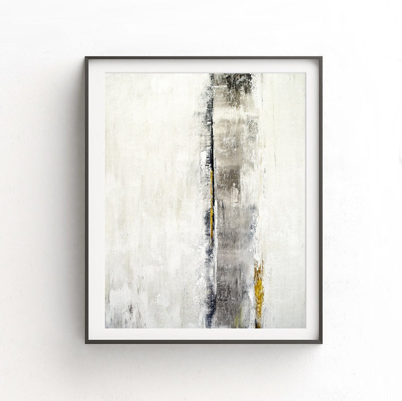 gold print white abstract digital download poster art print